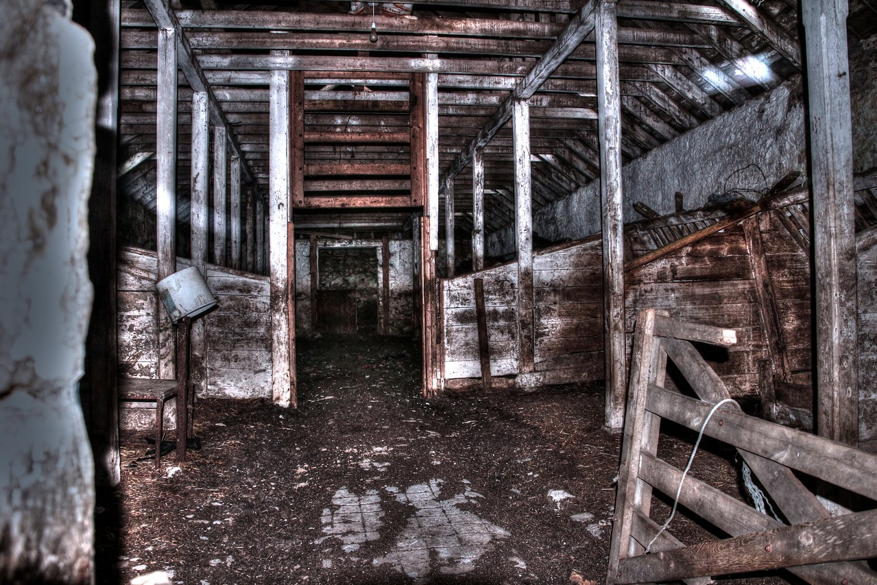 "Old Cow Shed at Fintray Bridge (9x6"" print)"