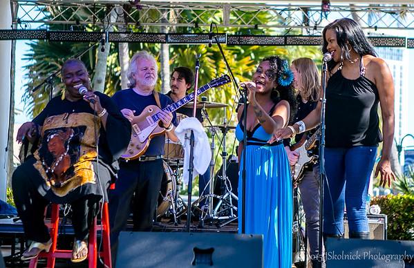Jeff Prine & 3 Generations of Blues Juanita Dixon, Rita Wilburn and Kat Riggins with special guest Matt Schofield at the Riverwalk Blues fest 2015