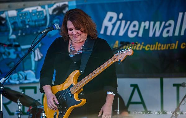 Rachelle Coba at the Riverwalk Blues Fest 2015
