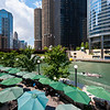 Chicago River riverwalk cafe dining O'Brien's Riverwalk Cafe summer day