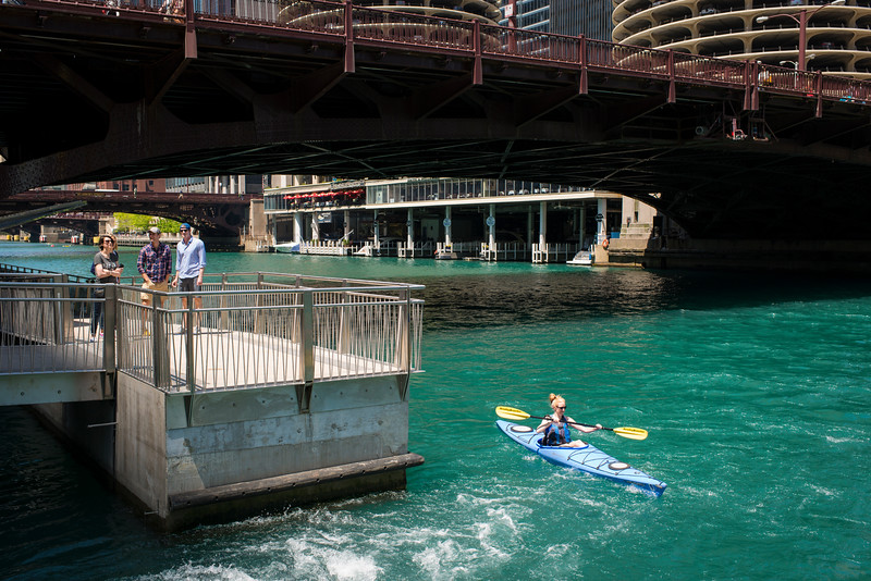Opening day of the Riverwalk