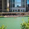 Chicago River Riverwalk Cove recreational boat kayak Tiny Tapp riverfront tourism tourists visitors