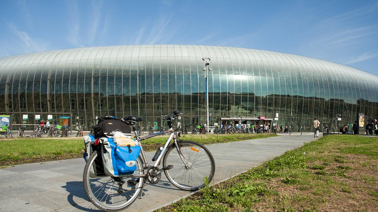Le départ en gare de Strasbourg