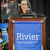Student speaker, Luisa Forger makes her speech for the Undergraduate Programs. SUN/Caley McGuane