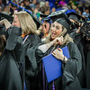 Katelyn Barros moves her tassel to the left in excitement after recieving her Masters Degree in Nursing Education. SUN/Caley McGuane