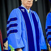 Commencement Speaker, Frederick H. Kocher gets ready to speak at the Rivier Graduation ceremony. SUN/Caley McGuane