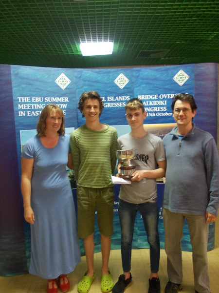 2017 Swiss Teams winners -  Sally Anoyrkatis, Sam Anoyrkatis, Theo Anoyrkatis, Harry Anoyrkatis