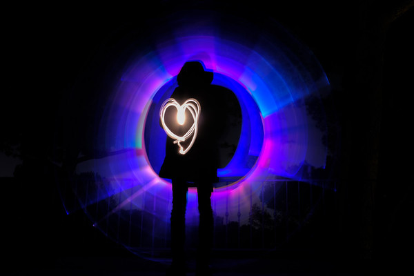 Light Painting with Tiago
