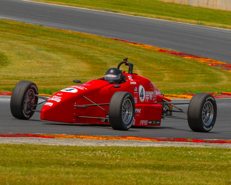 What could be better than a beautiful Fathers Day photographing racing at Road America, open cockpit racing, and its red !