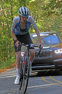 Reilly Oberding (849) rides on Skyuka Mountain Rd. in the Gran Fondo Hincapie Greenville -- Saturday, October 24, 2020