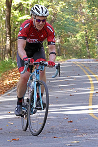 Brian Gray (31) rides on Skyuka Mountain Rd. in the Gran Fondo Hincapie Greenville -- Saturday, October 24, 2020