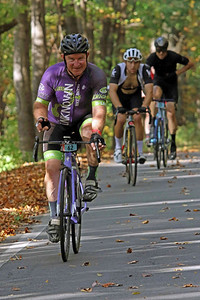J.R. Devine (62) rides on Skyuka Mountain Rd. in the Gran Fondo Hincapie Greenville -- Saturday, October 24, 2020