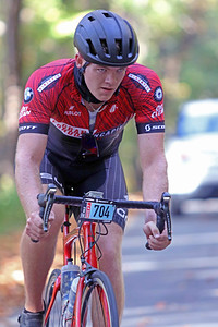 Logan Solesbee (704) rides on Skyuka Mountain Rd. in the Gran Fondo Hincapie Greenville -- Saturday, October 24, 2020