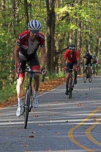 Bobby Julich (38) rides on Skyuka Mountain Rd. in the Gran Fondo Hincapie Greenville -- Saturday, October 24, 2020