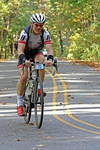 David Strickland (72) rides on Skyuka Mountain Rd. in the Gran Fondo Hincapie Greenville -- Saturday, October 24, 2020