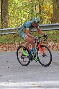 Tim Hall (446) rides on Green River Cove Rd. in the Gran Fondo Hincapie Greenville -- Saturday, October 24, 2020