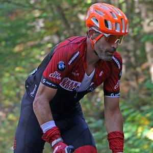 George Hincapie (1) rides in the Gran Fondo Hincapie Greenville -- Saturday, October 24, 2020