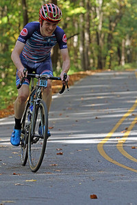 Peter Van Susteren (745) rides on Skyuka Mountain Rd. in the Gran Fondo Hincapie Greenville -- Saturday, October 24, 2020