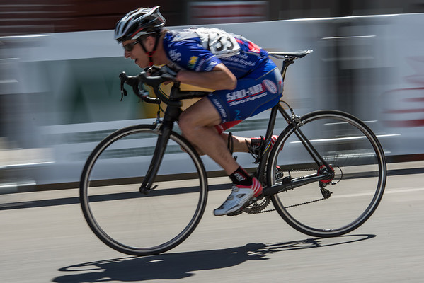Craig Lindberg on Broad Street, Nevada City Classic 2013