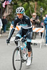 Andy Schleck rides to the sign-in in Nevada City