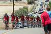 Yellow jersey winner Tejay van Garderen and the BMC team lead the peloton, Stage 7 to Mt. Diablo