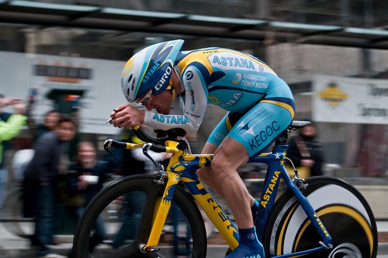 Levi Leipheimer, second place at prologue TT, 2009 TOC