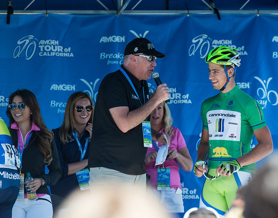 Peter Sagan, green jersey winner and owner of 10 stage wins in the Amgen Tour of California 2011 - 2013