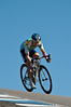 Levi Leipheimer at the top of the corkscrew, Laguna Seca