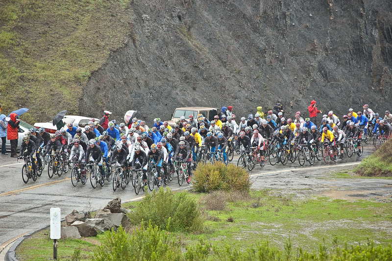 The peloton on Cardiac Hill, Stage 1, 2009 TOC
