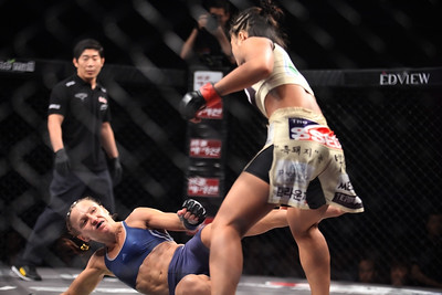 Ham Seo-Hee vs Alyona Rassohyna at Road FC 018 in Seoul at the Grand Hilton Hotel 8/30/2014