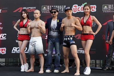 """Kim Soo-Chul vs Tamura Issei """"Weigh-in"""""""