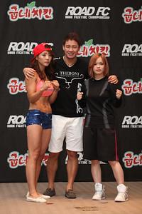 Kimura Hazuki and Song Hyo-Kyung at the Weigh-in
