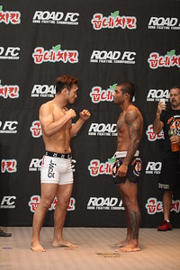Bruno Miranda and Lee Kwang-Hee at the Weigh-in