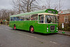 West Riding Leyland Panther LHL 164F stands in Havelock Street Ravensthorpe while running on the Dewsbury Shuttle on 15th November 2015