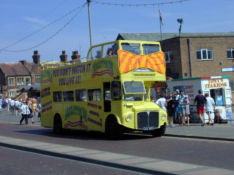Open Topped Routemaster CUV 210C on Scarborough Prom on 10th July 1999