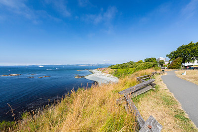 Dallas Road Waterfront Trail. Victoria, BC, Canada
