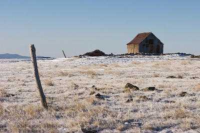 Old shack on top of Johnson's Mesa, New Mexico.