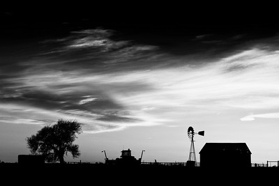 Sunset along Highway 385 in West Texas between Channing and Hartley.