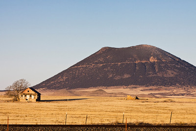 Capulin Mountain, New Mexico, is the only volcano that you can drive up to the top, walk around the rim, and walk to the bottom of the crater.