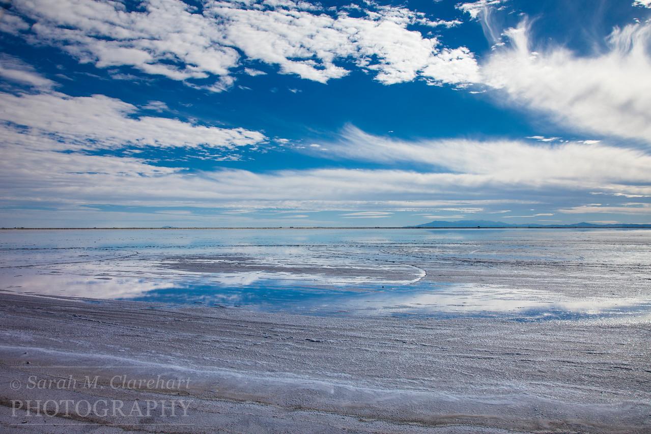 Bonneville Salt Flats, Utah.