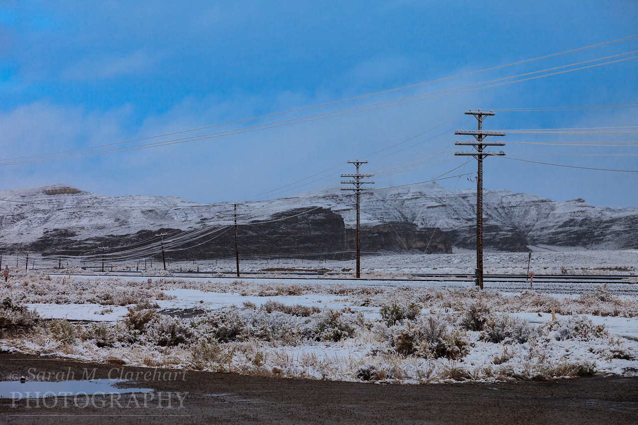 Snowstorm, Wyoming.