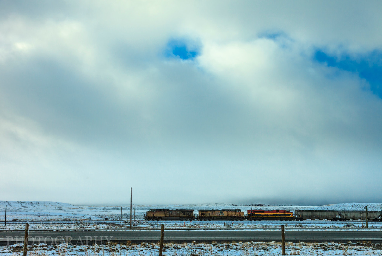Snowstorm, Wyoming.