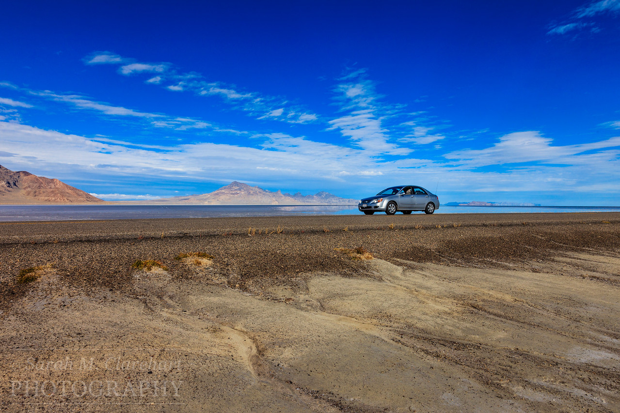 Bonneville Salt Flats, Utah. My trusty steed.