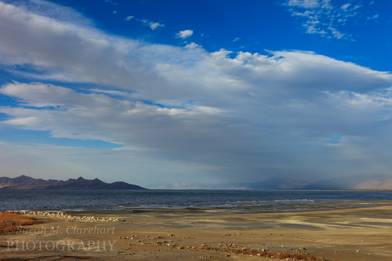 The Great Salt Lake, Utah.