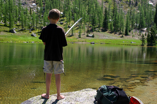 While I was hiking Lakeview mountain, Niko got to try his luck fishing Goat Lake. Although he didn't catch anything, he can claim that he fished one of the most beautiful spots in BC.