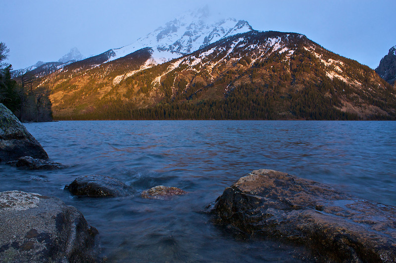 I had just one night at Jenny Lake. I was lucky and ready for the few minutes of sun at both sunrise and sunset.