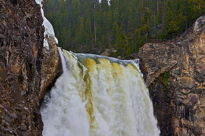 Lower Falls Yellowstone...looking up from below.