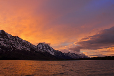 Jenny Lake sunset Grand Teton National Park.