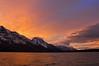 Jenny Lake sunset Grand Teton National Park.