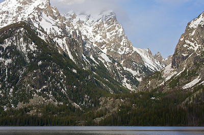 Zoomed in across Jenny Lake.